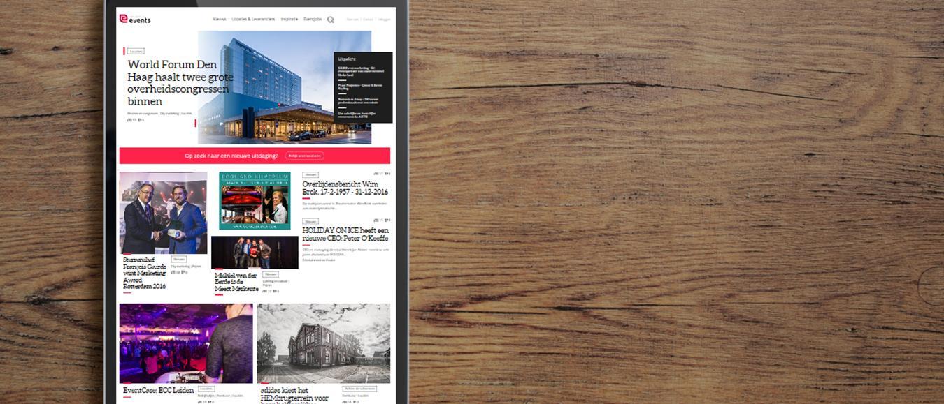 Events.nl, het online platform van en voor de evenementenbranche, is vernieuwd!
