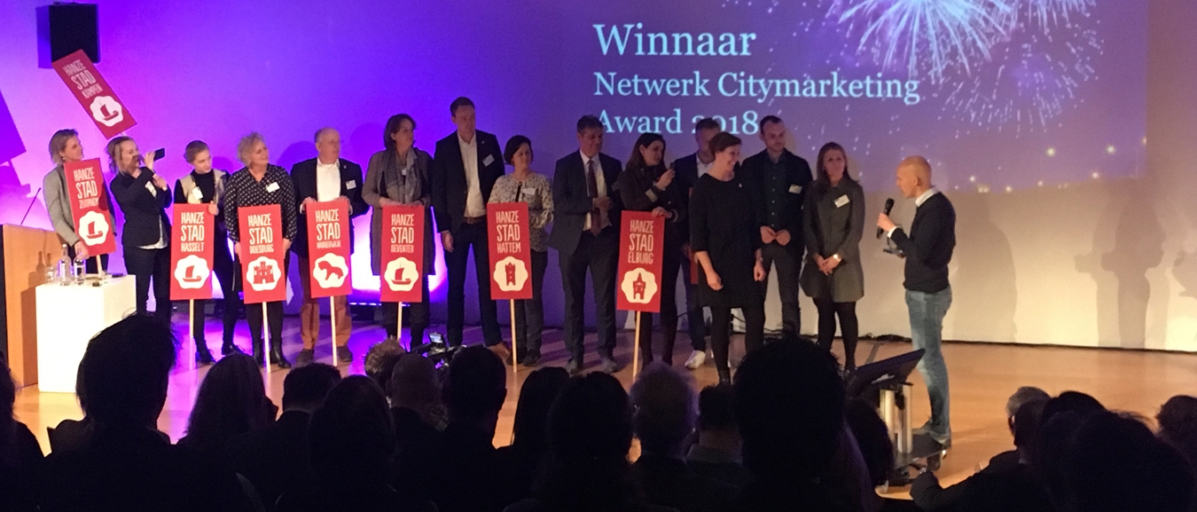 Hanzesteden Marketing wint Netwerk Citymarketing Award 2018