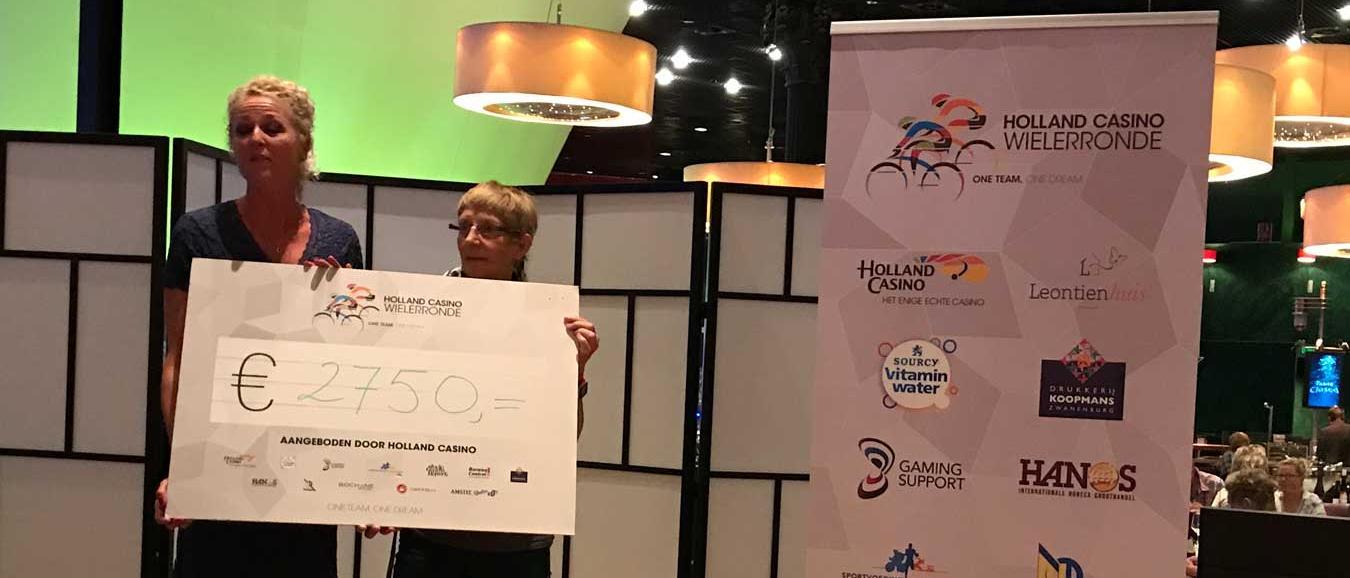 Holland Casino fietst ruim 1.000 km voor Leontienhuis