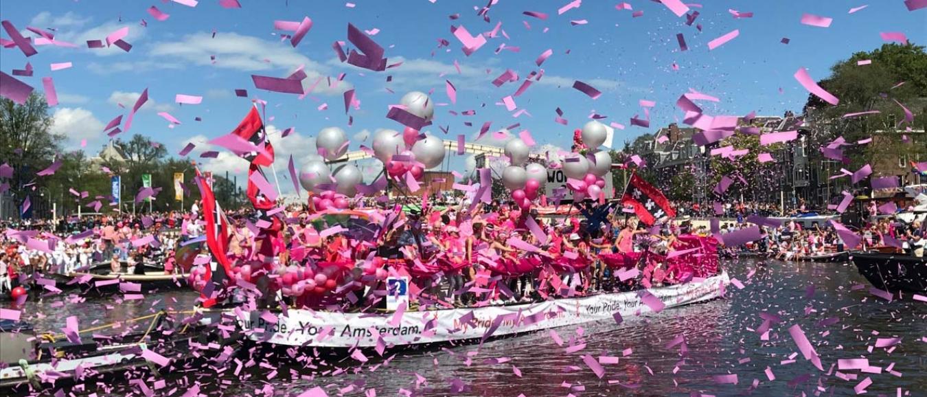 Pride Amsterdam 2018 zoekt deelnemers Botenparade