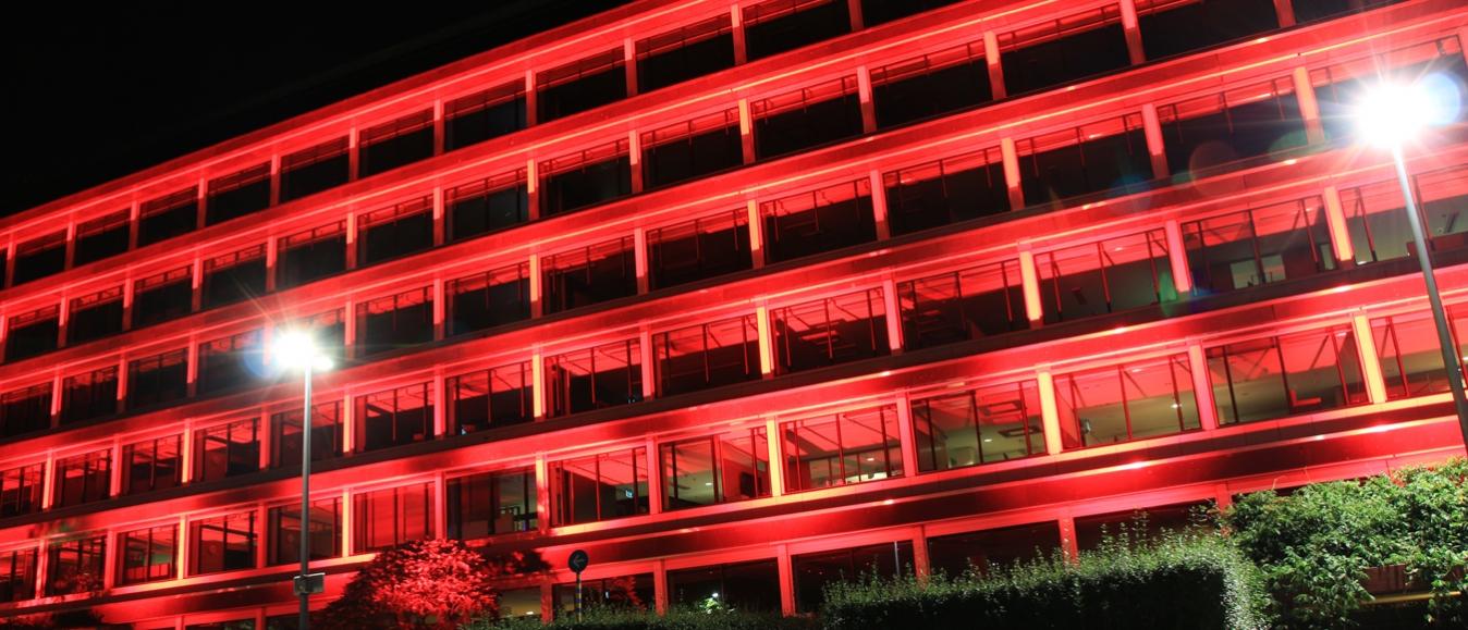 Provinciehuis Overijssel kleurt rood, #RedAlert