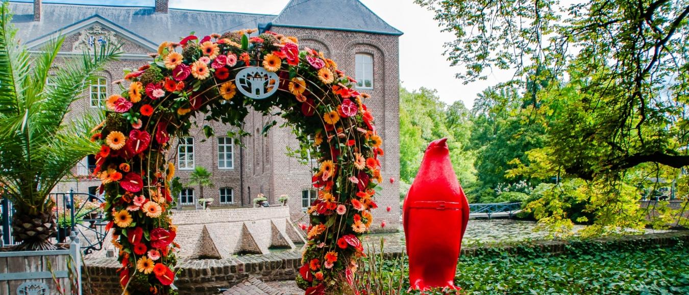Bloemsierkunst tijdens festival Bloemig!