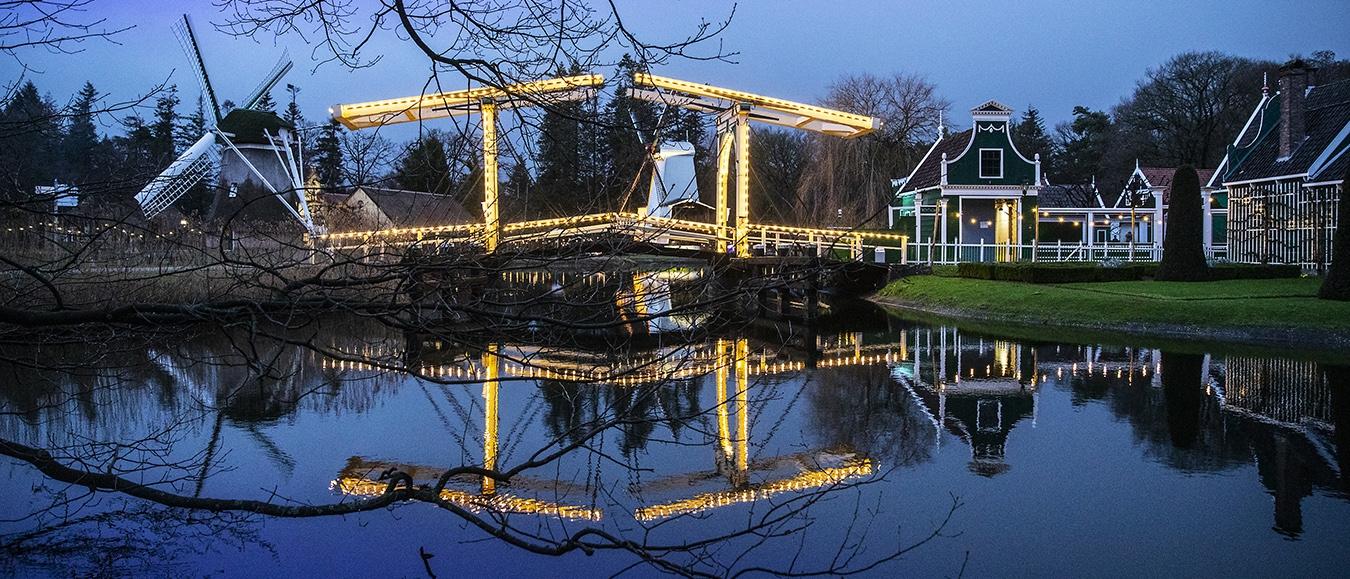 Zakelijke Kerstmarkt in Nederlands Openluchtmuseum