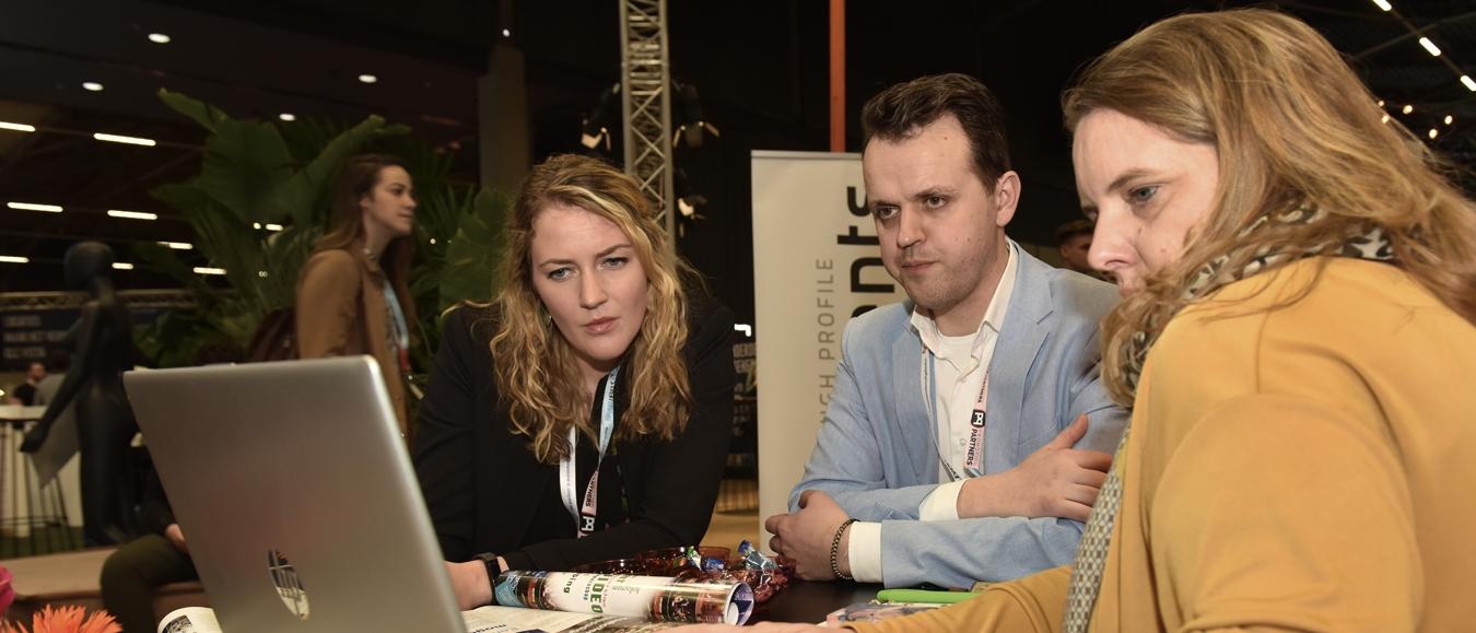 Gerika Lubbinge en Jaap Zijffers van @lumenzwolle op #EventSummit
