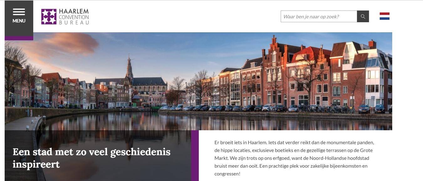 Haarlem Convention Bureau lanceert nieuwe, overzichtelijke website