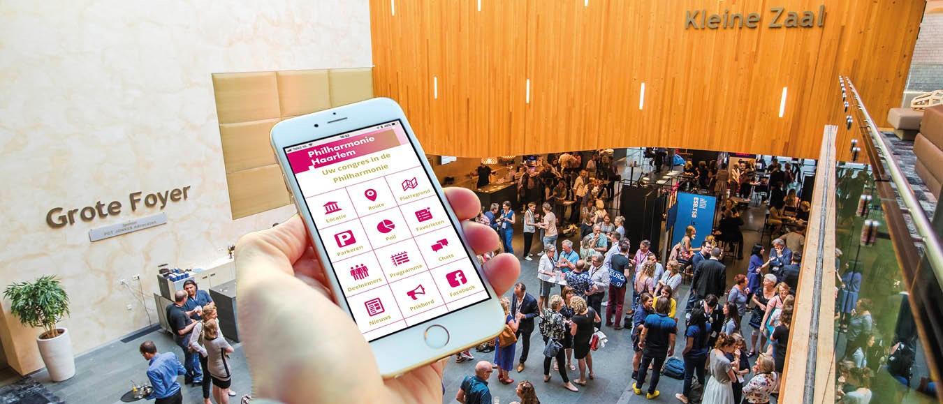 Philharmonie Congres App is gemakkelijk én duurzaam