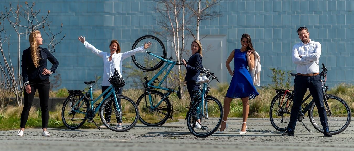 World Forum The Hague op de fiets naar IMEX Frankfurt