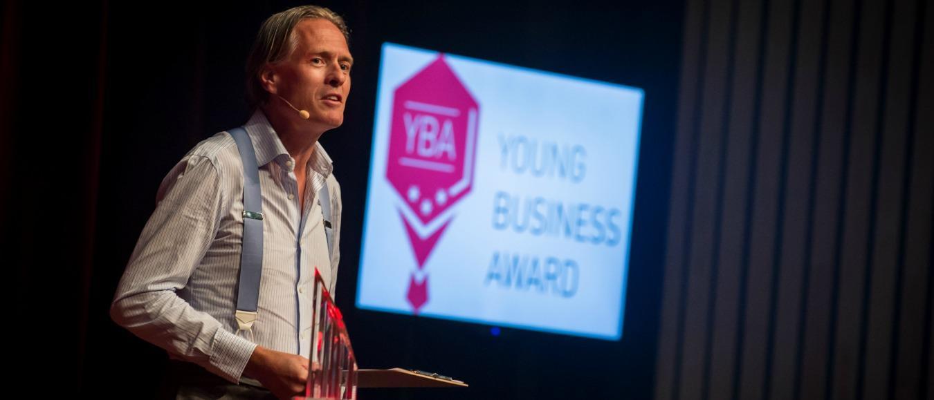 Koninklijk bezoek bij finale Young Business Award 2017