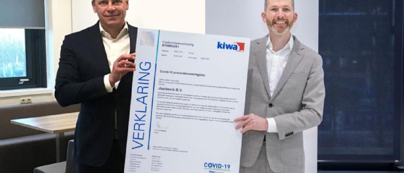 Jaarbeurs eerste evenementenlocatie met Kiwa keurmerk COVID-19