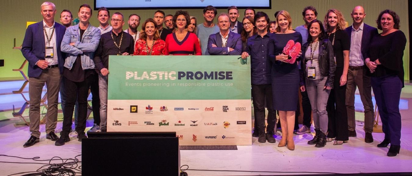 Evenementen industrie lanceert campagne Plastic Promise