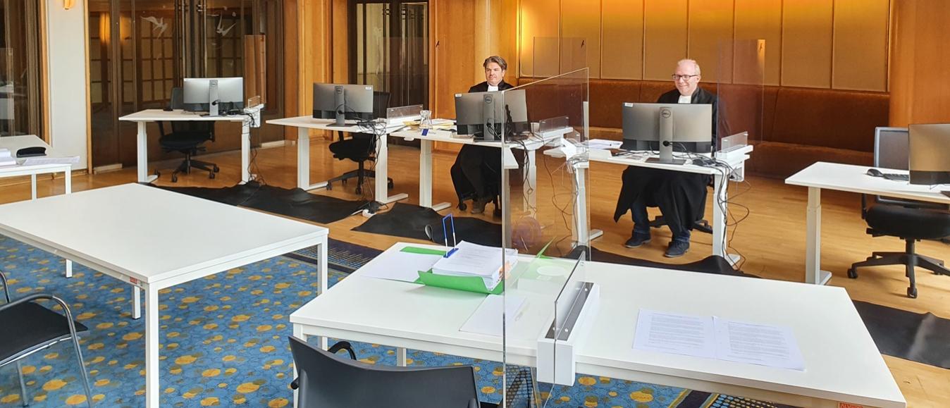 Rechtbank Gelderland houdt zitting in Stadstheater Arnhem