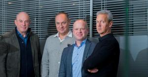André Duval, Marc Bresseel, Tom Bellens en Klaus Lommatzsch