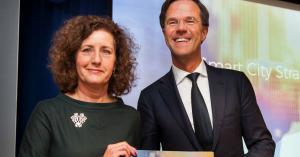Van Engelshoven en Mark Rutte Smart City Strategie NL