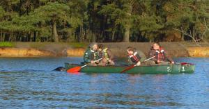 Kanoën tussen de zeeleeuwen