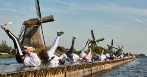 WK warming up: 70 extra windmolens op Kinderdijk