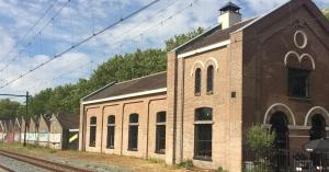 Aanzicht vanaf het spoor op De Gelderlandfabriek