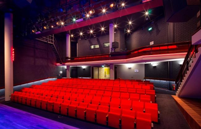 Bibliotheektheater vanaf het podium
