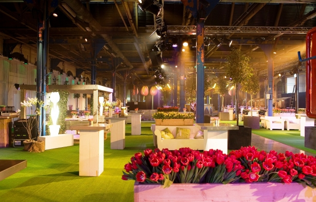 Industriële evenementenlocatie voor een congres, beurs of (bedrijfs)feest