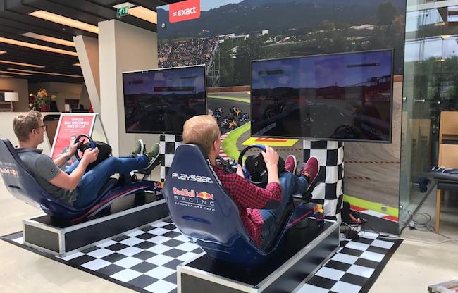 Formule 1 race simulators op evenement
