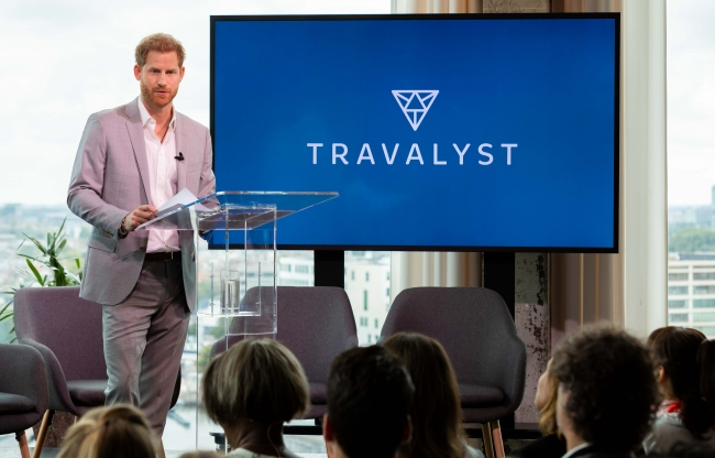 Keynote speaker Prince Harry, Duke of Sussex at the launch of Travalyst