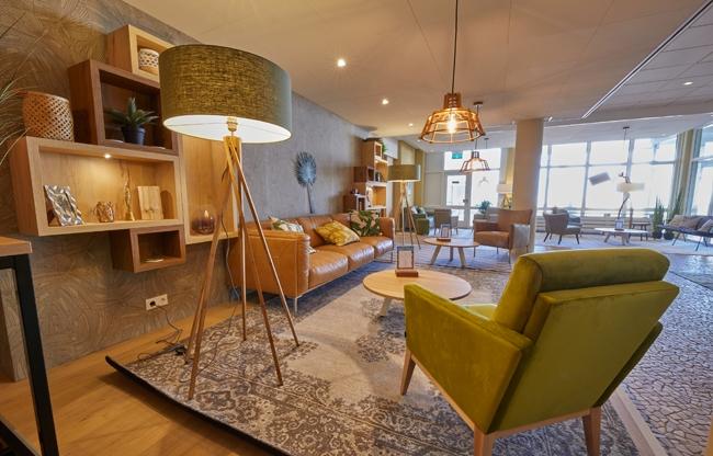 Vernieuwde lobby Strandhotel – bij Center Parcs Park Zandvoort