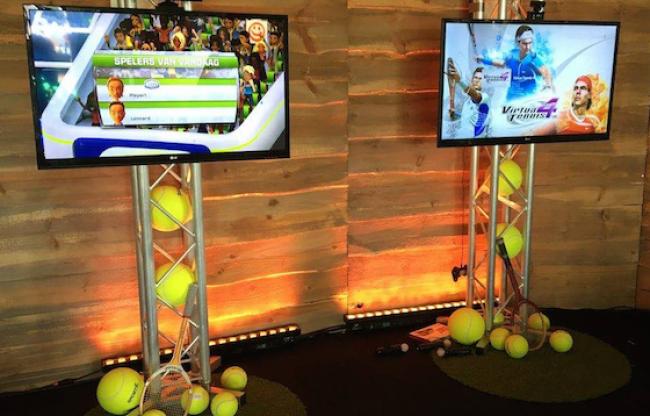 Tennis games kinect op evenement met thema aankleding