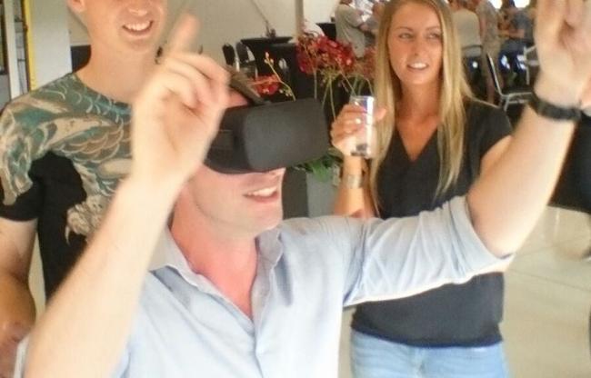 Virtual Reality Rollercoaster op bedrijfsfeest