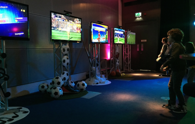 Kinect Kids Games op Familiedag bedrijf