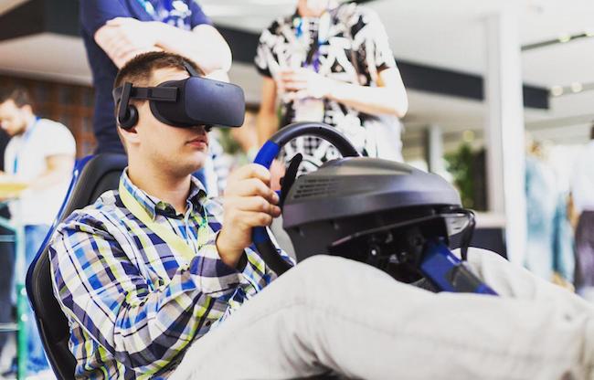 Formule 1 Virtual Reality race simulator