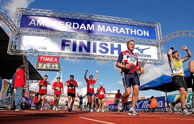 Aankleding Amsterdam Marathon