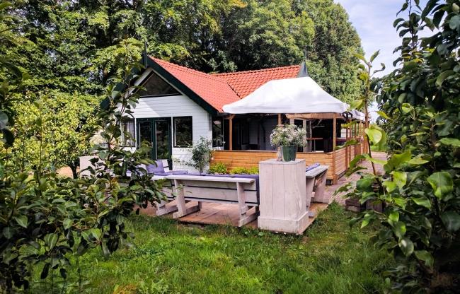 Boshuis in de perenboomgaard