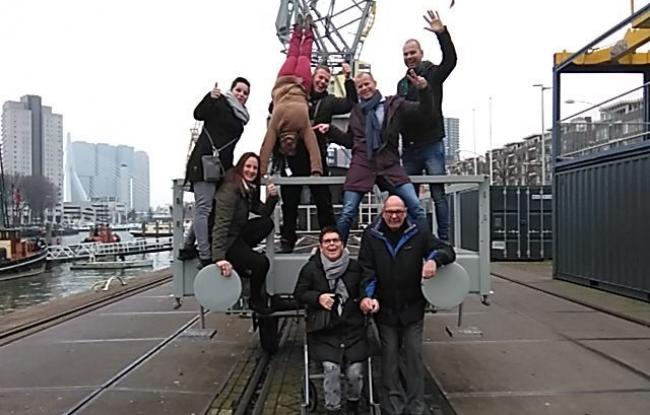 Teamuitje in Rotterdam - actief stadsspel