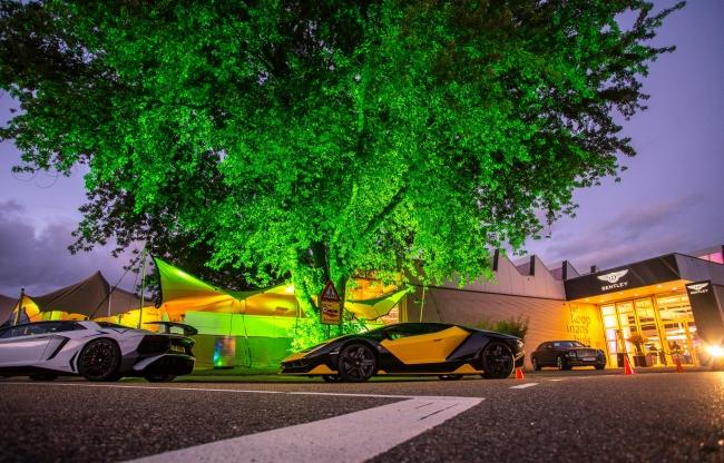 Licht en geluid voor Pon Bentley Lamborghini, Audivio 2018