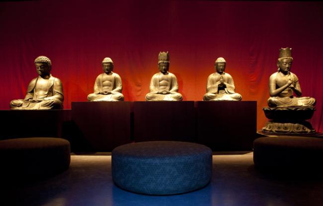 Boeddhazaal in Museum voor Volkenkunde