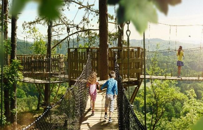 Bladerdakbrug, apenbrug, wildpark, familyday