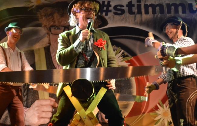 Oktoberfest show Stimmung mit Peter