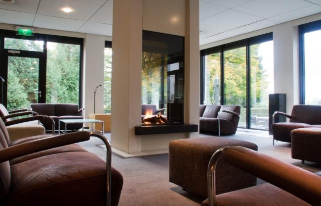 Lounge met koffie en thee corner
