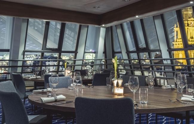 Gala set-up in zaal 'Het Wapen van Amsterdam' op de 5e etage