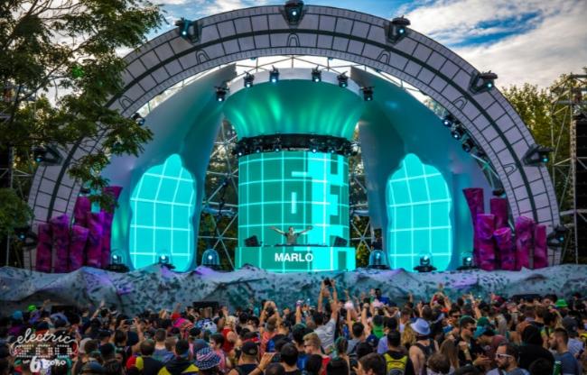 Domes zijn zeer geschikt als stage voor concerten of festivals