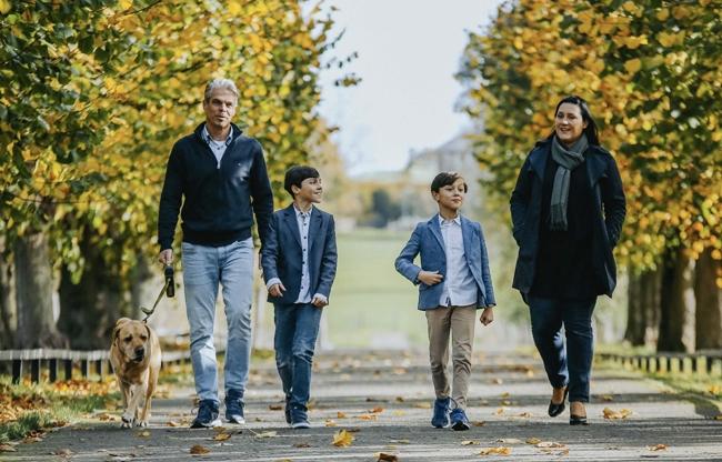 Maurice en zijn gezin