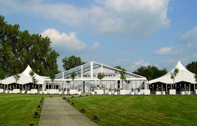 Veldeman tentstructuren - aluhallen bedrijfsfeest