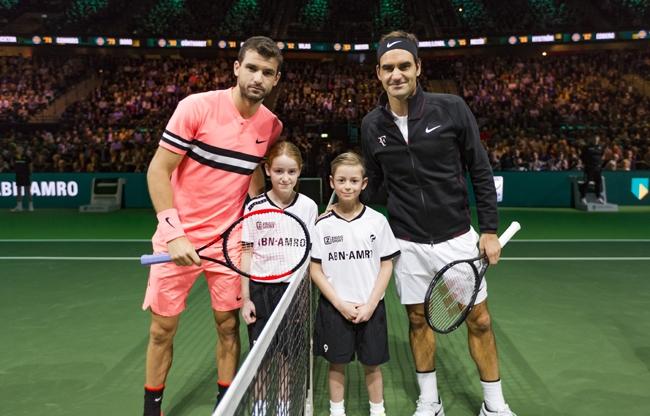 Federer schrijft geschiedenis in Rotterdam Ahoy