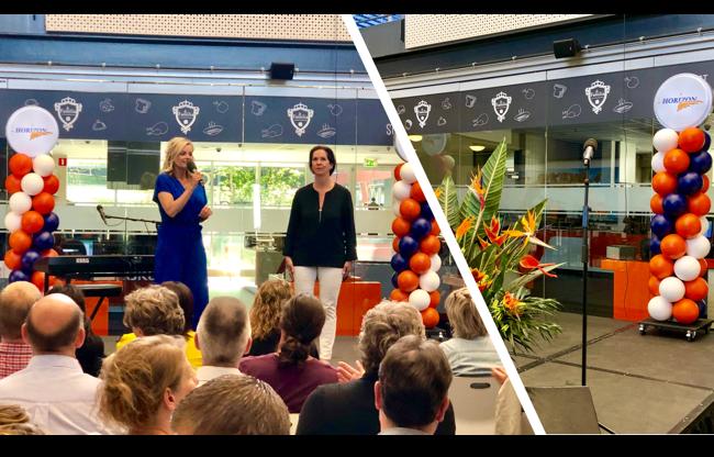 Annemarie van Gaal bij InHolland met duurzame Ballonpilaren