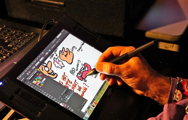 Interview Erik Peekel - Live cartoonist