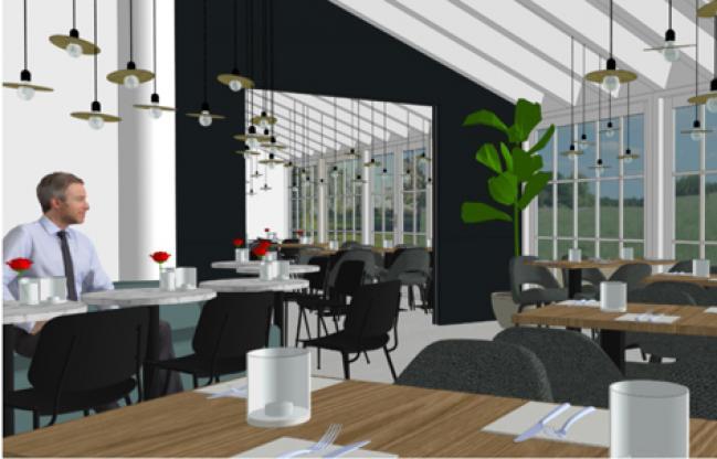 Het nieuwe restaurant - impressie, wijzigingen onder voorbehoud