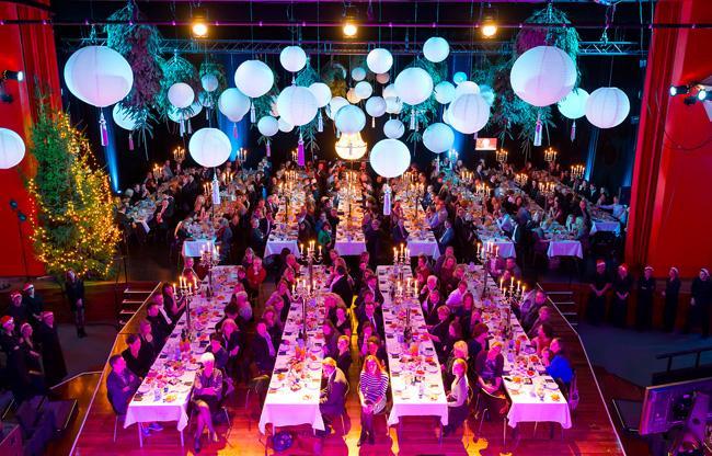 Exclusief diner on stage als eindejaars-bijeenkomst bij Spant