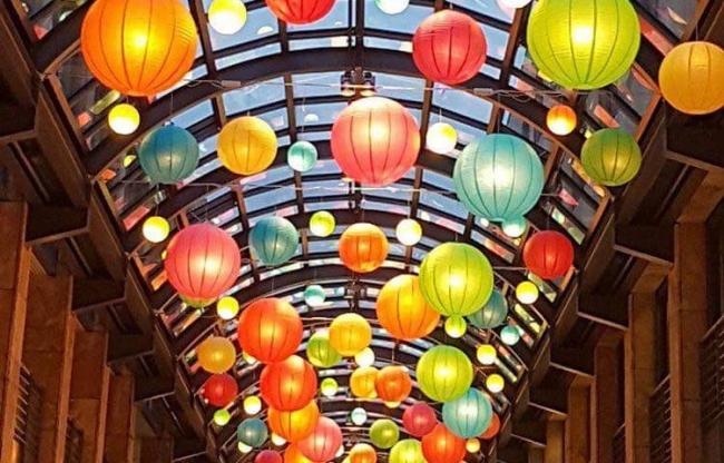 Kleur Mix pakket lampionnen met LED verlichting