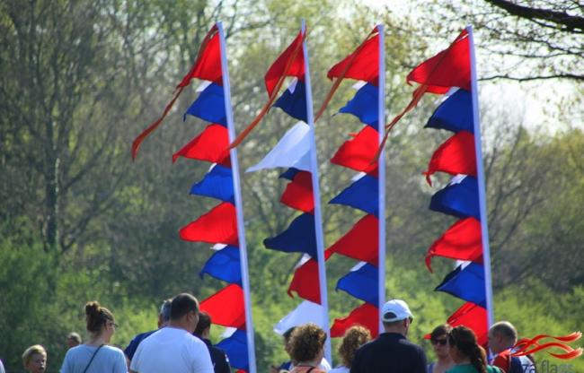 rood wit blauwe vlaggen huren