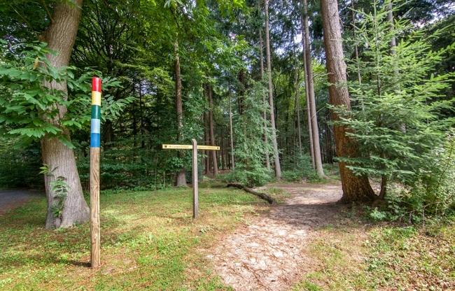 4 beschikbare routes op het Landgoed
