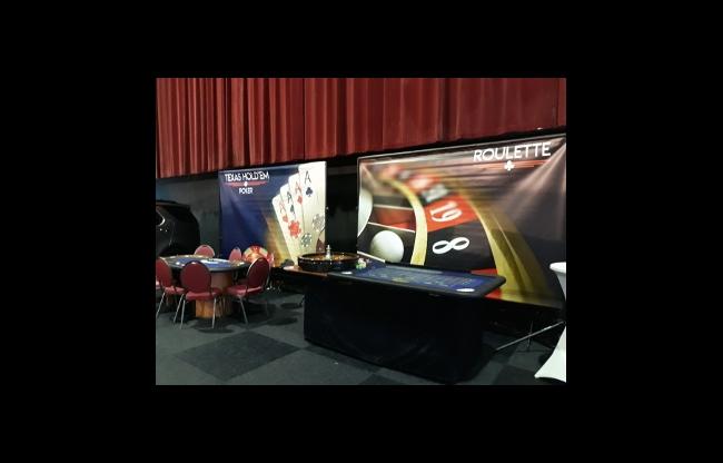 Casino tafels op een zakelijk event